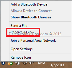 Receive File Via BT
