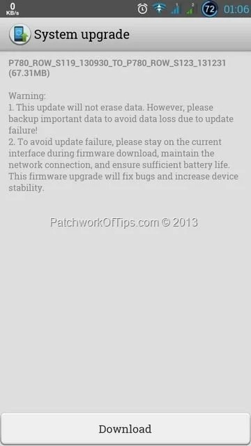 Download Lenovo P780 Update January 2014