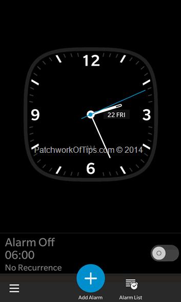 BlackBerry Alarm Clock