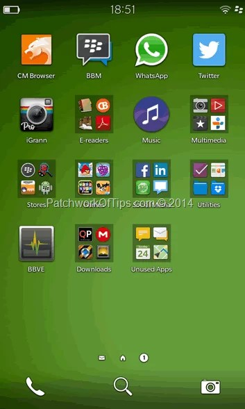 BlackBerry App Tray