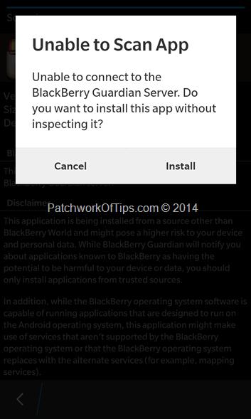 BlackBerry Guardian Scanner