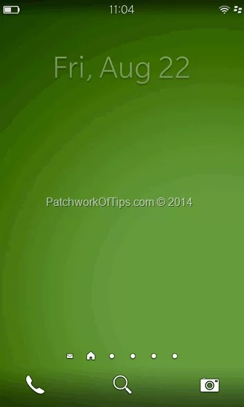 Blank Home Screen