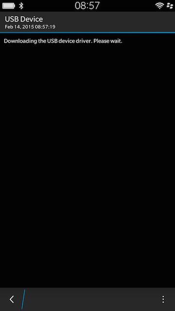 Blackberry 10 USB OTG Driver Installation