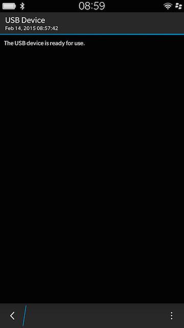 Blackberry 10 USB OTG Driver Installed