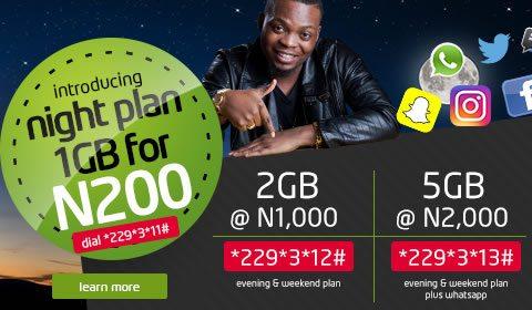 Etisalat Nigeria Night Data Plans