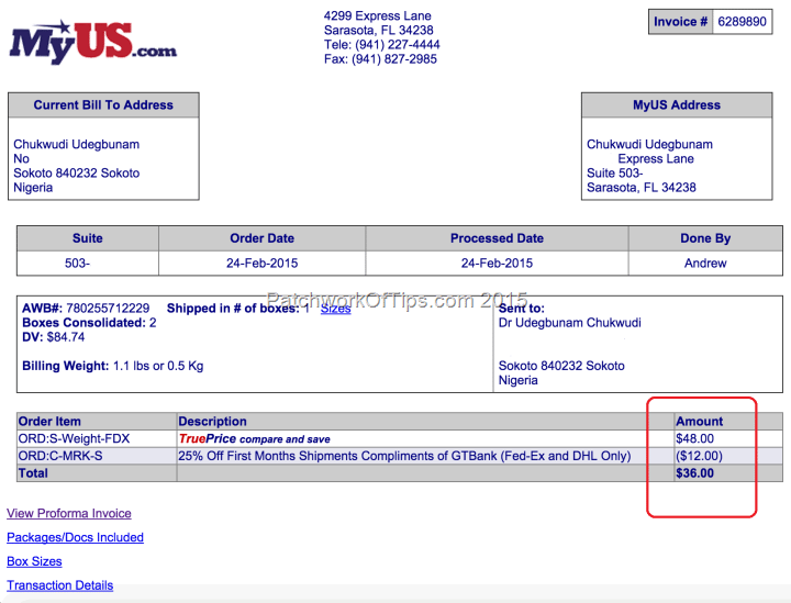 MyUS.com Shipping Rates & Discounts