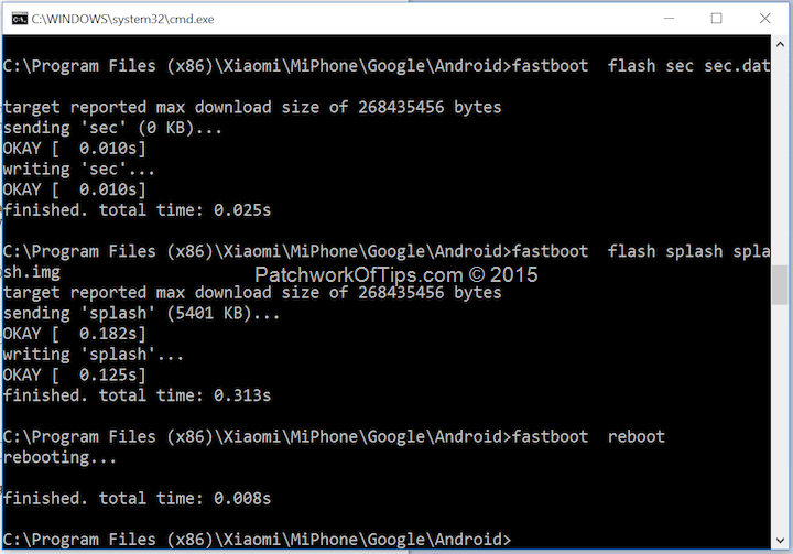 How To Fix Xiaomi MiFlash Missmatching Image and Device