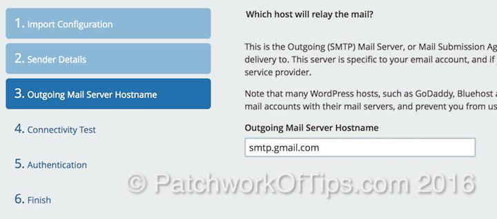 Postman SMTP Setup Outgoing Mail