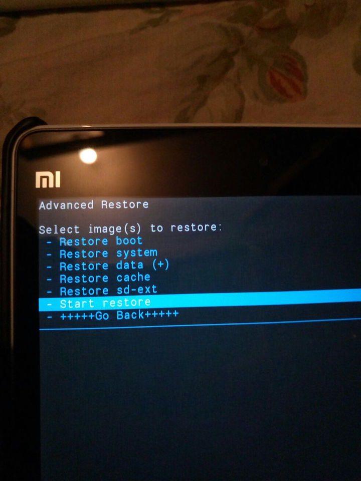 Restore Data To MiPad Via CWM
