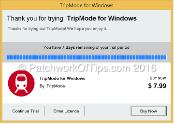 TripMode For Windows Review