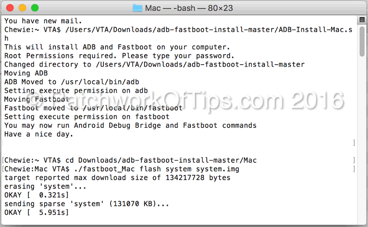 How To Flash Android Devices In Fastboot Mode On Mac OS X - Tech