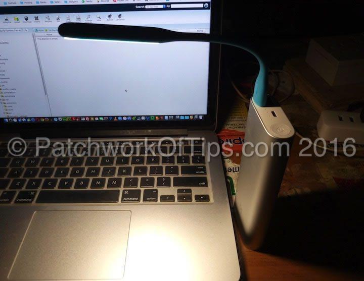 Xiaomi USB LED Light Enhanced Version Turned On