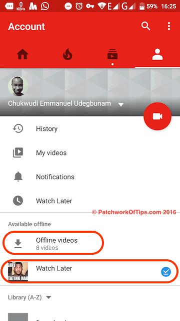 View List of YouTube Offline Videos 1