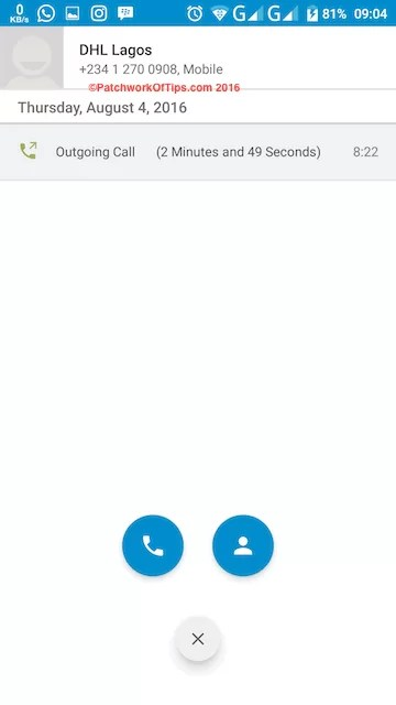 Make Calls From BlackBerry Hub+ Android 2