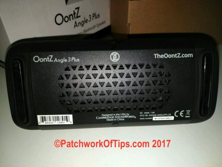 Oontz Angle 3 Plus Bottom