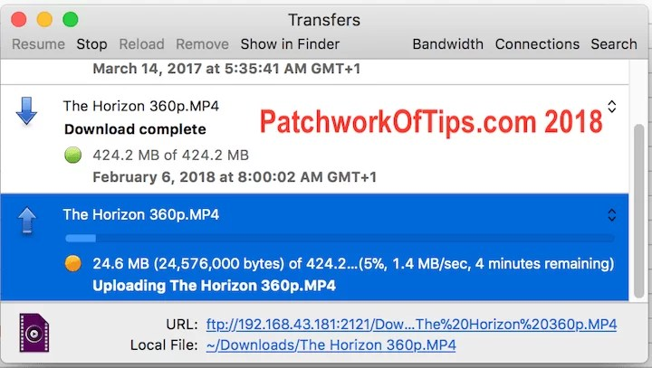 Upload Speed Mi File Manager Transfer from MAC to Phone Via FTP