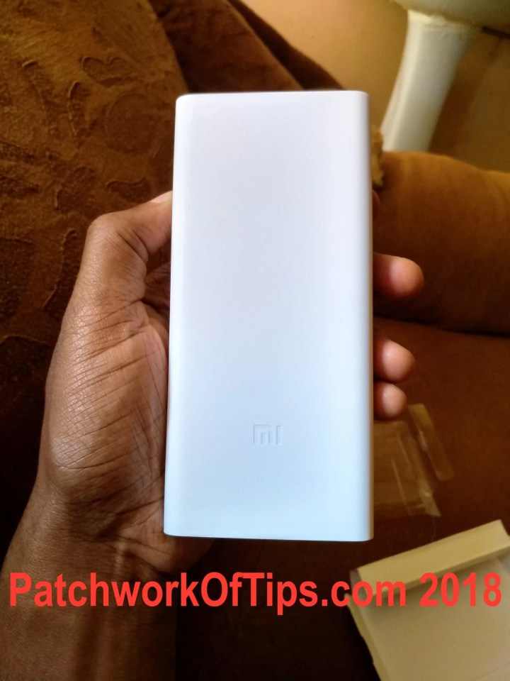 Mi PowerBank 2C Unboxed Top