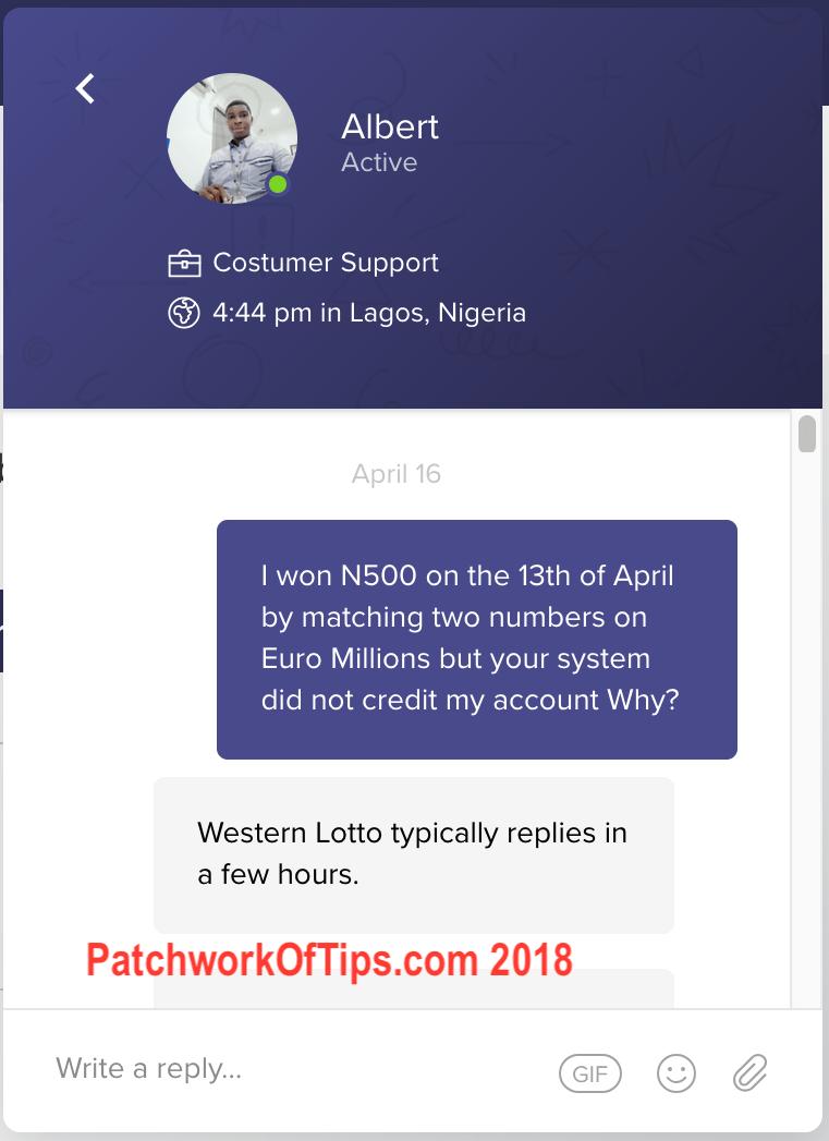 Western Lotto Winnings 1