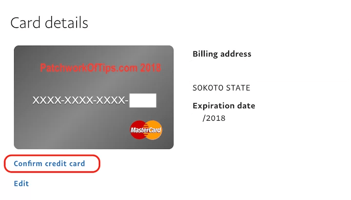 Confirm New Nigerian Mastercard To Paypal 4