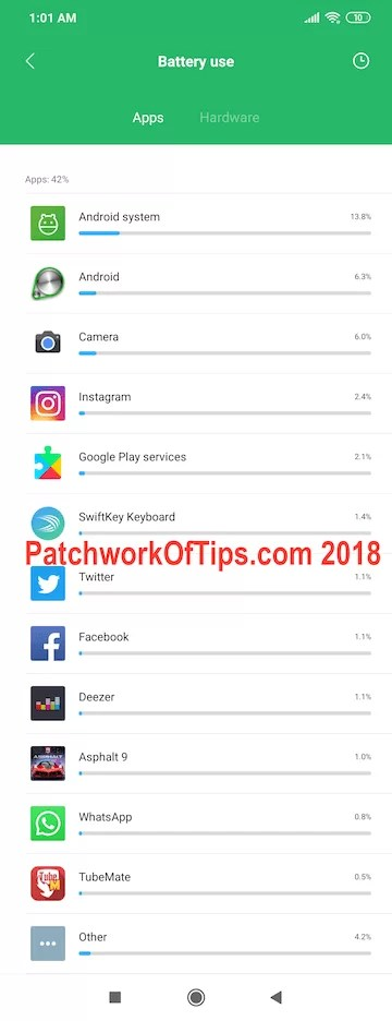 Pocophone Daily Battery Usage 1