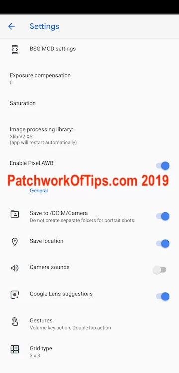 Google Camera Settings