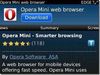 Opera Mini Makes Its' Official BlackBerry Appworld Debut - Tech News