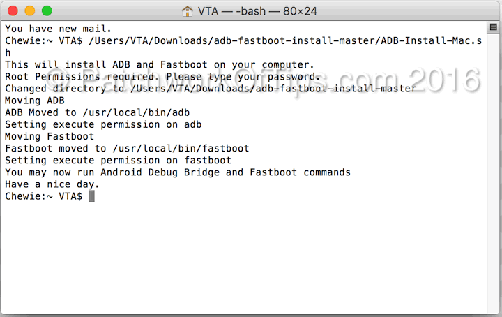 How To Flash Android Devices In Fastboot Mode On Mac OS X