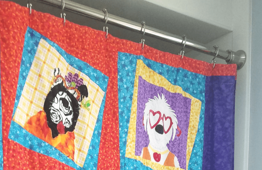 how to make a quilted shower curtain