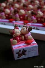 Boîtes à dragées filles jumelles