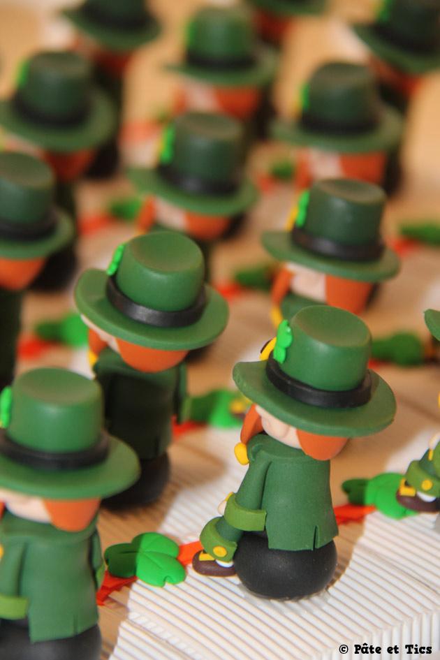 Boîtes à dragées lutins leprechauns thème Irlande