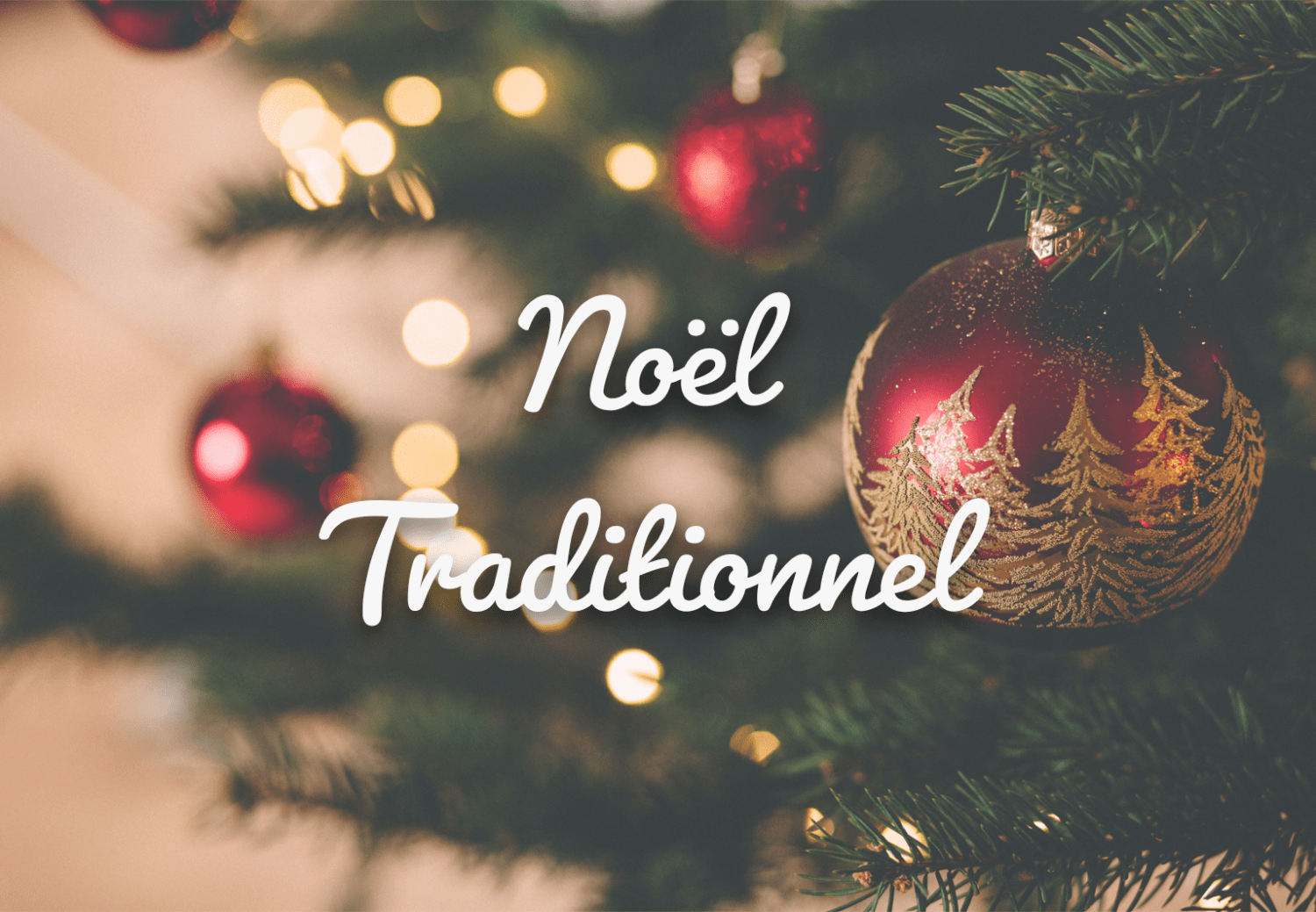 noël traditionnel arbres de noël