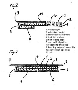 Patent in suit, Fig. 2 and 3 (annotated)
