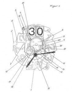 Fig. 1 of EP 529 191 B1 (Jaeger-Le Coultre)