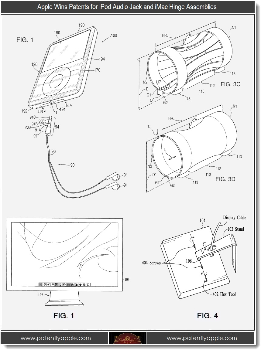 5 apple patent wins for audio jack and imac hinge assemblies