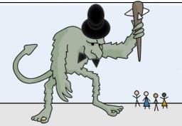 Well-dressed troll