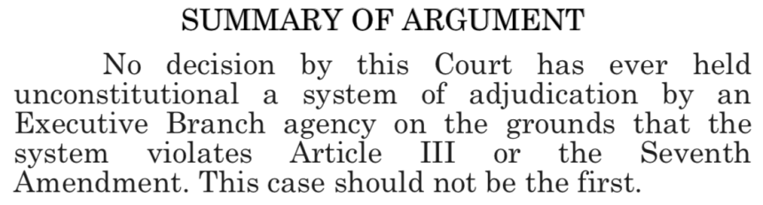 Summary of Argument