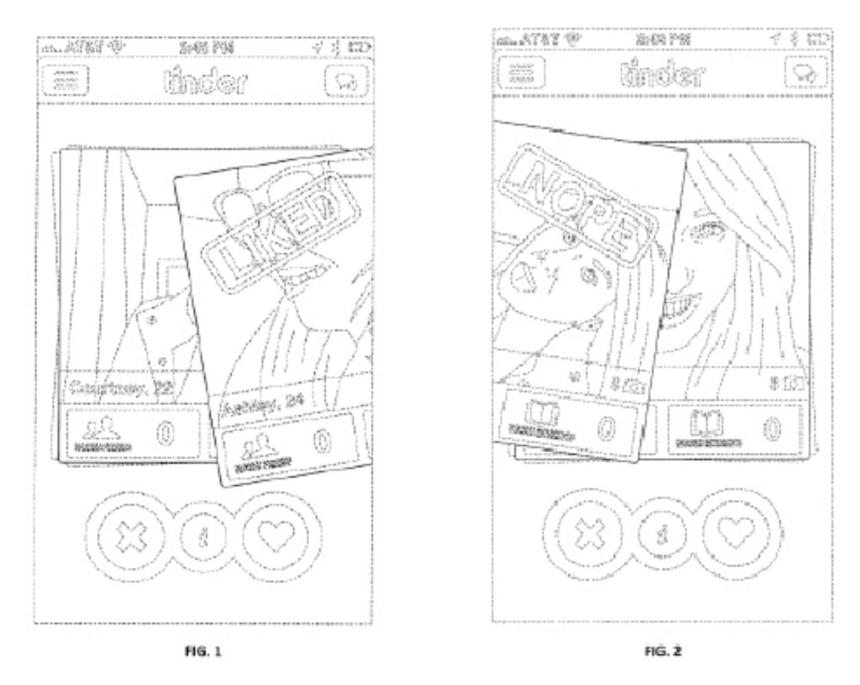 Tinder Design Patent