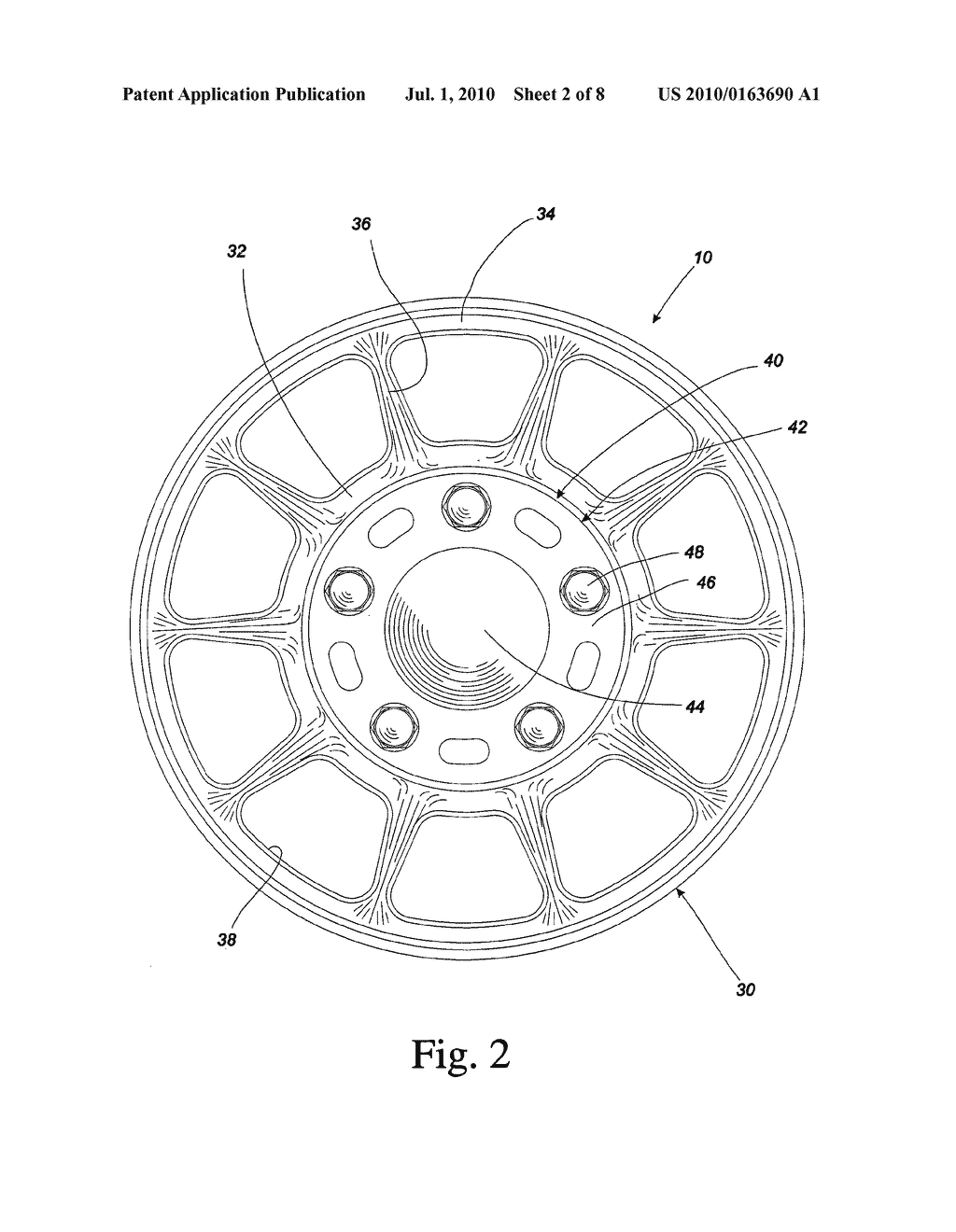Hose hanger assembly having car wheel rim configuration with