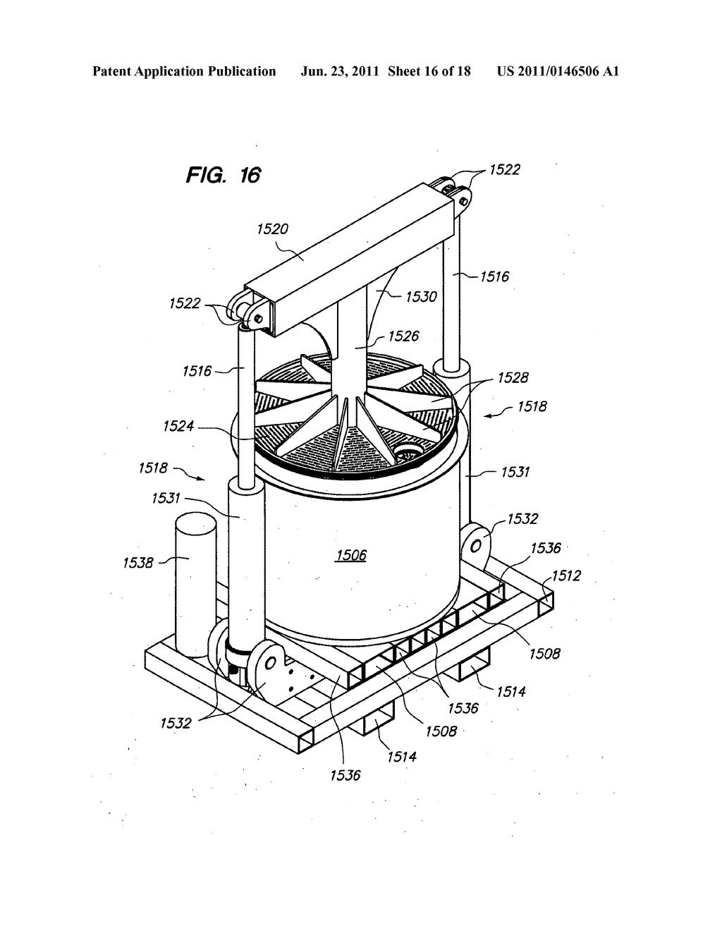 Wine press diagram