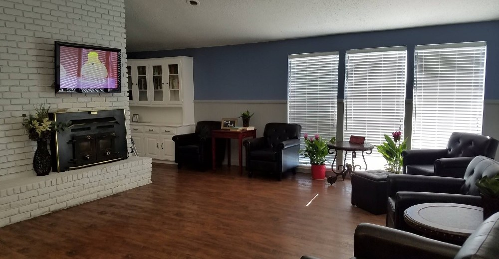 living room of supported living house