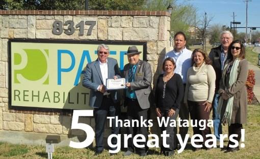 pate watauga staff with mayor