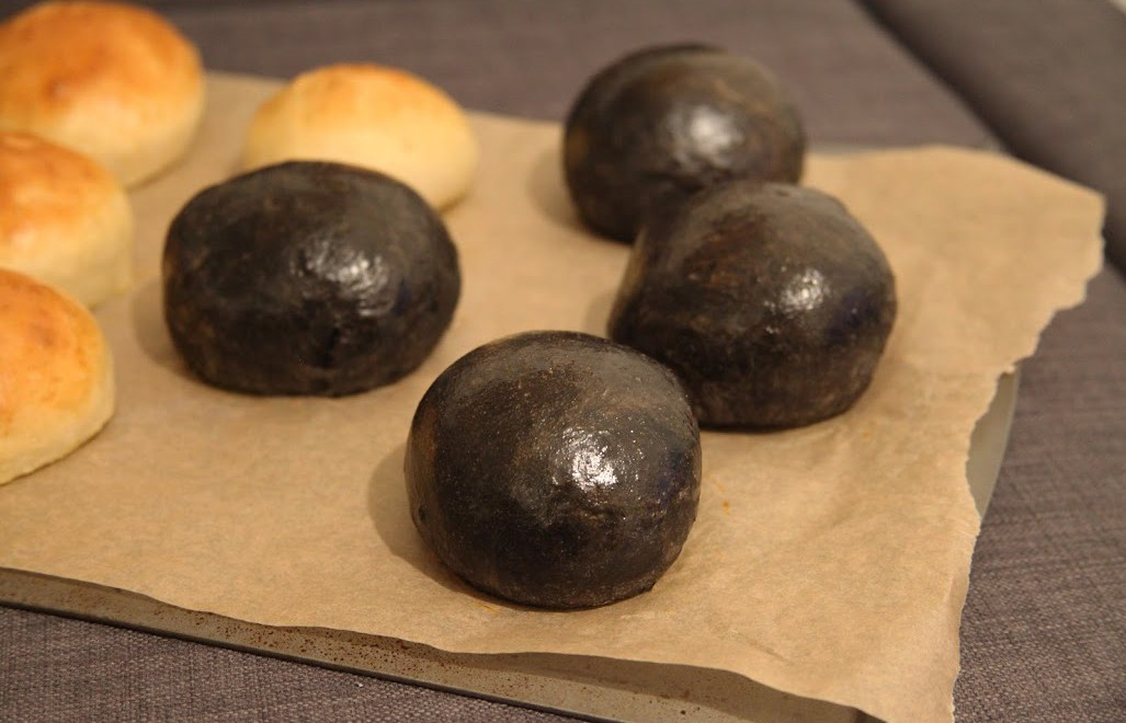 Squid Ink Brioche Buns