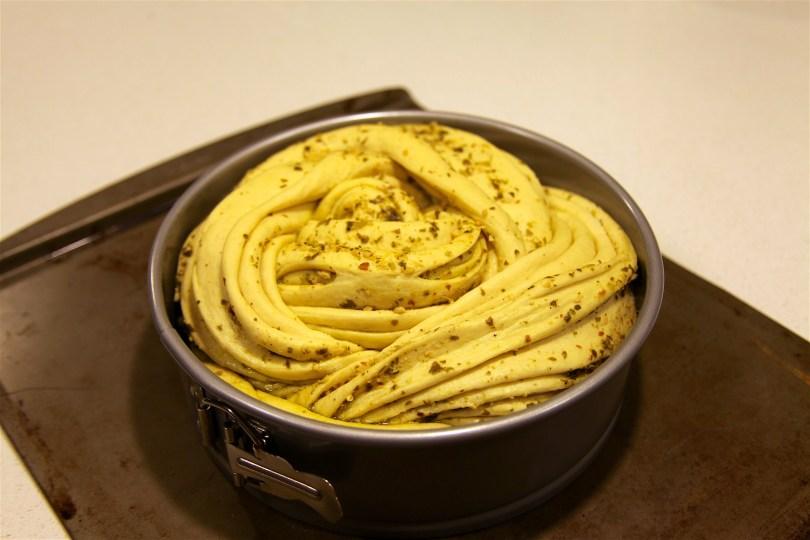 Russian Pesto Braided Bread Recipe