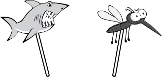 Identify Shark bites & Mosquito bites