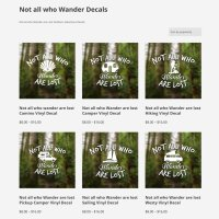 Not all who Wander Decals