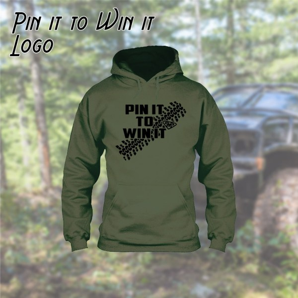Pin it to Win it Logo Hoodie