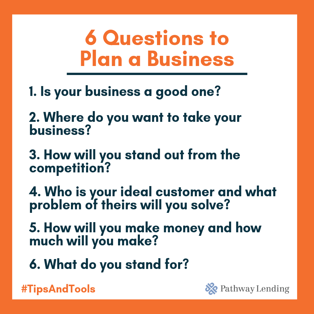 6 Questions 9 Weeks Your Plan To Start A Small Business