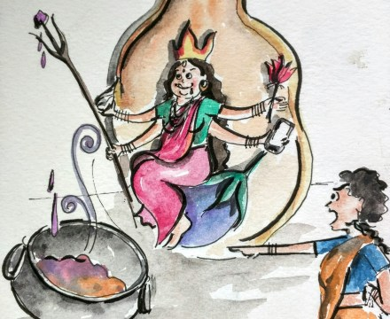 Manjula and the Goddess: A Story about Sulking, Sharing, and the Love of Good Brinjals