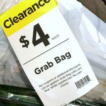 grab bag sign