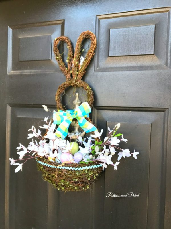 little bunny on the front porch
